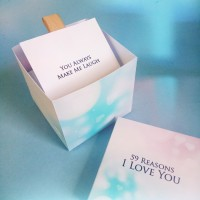 Kotak Hadiah 59 Reasons Kado Ultah Pacar Romantis Explosion Box Couple