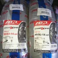 Paket ban FDR Sport Zevo 90 80 & 80 80 ring 14 ban tubless motor matic