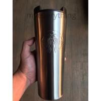 Tumbler Starbucks Botol Minum Original Troy Silver Stainless Air Panas