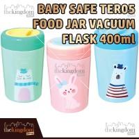 Baby Safe TER05 Food Jar Vacuum Flask 400ml Mug Sendok Blue Green Pink