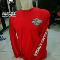 T-shirt Kaos Baju Lengan Panjang Harley Davidson