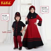 Gamis Anak Keke Maroon Limited Edition 02