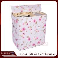 Cover Mesin Cuci Bahan Plastik PEVA KUALITAS PREMIUM TIPE 2 TABUNG (C)