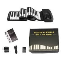 Silicone Flexible Keyboard Roll Up Electronic Piano USB 61 Keys