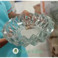 asbak kaca kristal motif