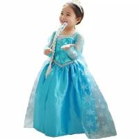 Dress Pesta Kostum Princess Elsa Frozen / Baju Cosplay Anak Impor