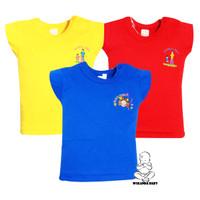 Baju kaus anak bayi warna motif bordir catton SNI kancing pundak Finka