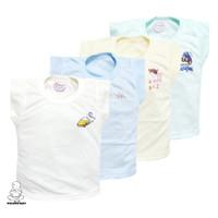 Baju kaos oblong atasan anak bayi warna polos satu pack isi 4 pcs Hoga