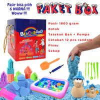Pasir Mainan Anak / Pasir Ekonomi Paket Kotak Lengkap Warna Warni