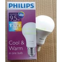 Lampu Led Philips 9,5w Scene Switch Cahaya Putih Kuning Dalam 1 Lampu