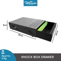WORCAS Knock Box Drawer Premium Stainless Steel For Barista Coffee Bar