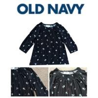 Kaos Anak & Wanita Old Navy -ONV-11 Black Flower