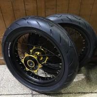 Wheelset Supermoto CRF 150 L Ban Corsa R93 120 Dan 150 - Ring 300 350