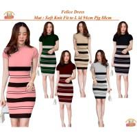 Bintang Rajut Indo || Felice Dress Bodycon Knit Wanita Dres Rajut