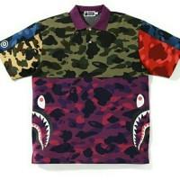 T-shirt Wangki Bape Mix Camo Shark Crazy