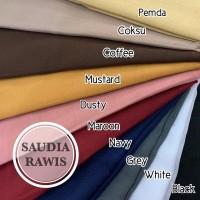 Promo Termurah! Hijab Saudia Rawis Polos / Kerudung Segi Empat /Jilbab