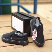 Sepatu Vans Hitam Polos Anak Slip On