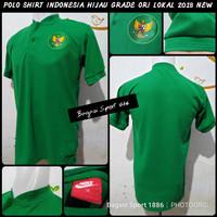 Polo Shirt Bola Timnas Indonesia Training Hijau 2018 AFF SEA GAMES DLL