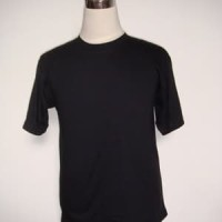 Kaos polos hitam 20s ukuran XS - XXXL cotton combed