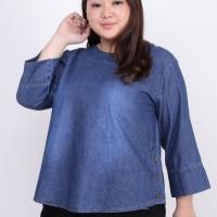 Baju Atasan Wanita Big Size Blouse Jeans Cewek Jumbo