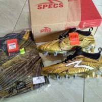 jual murah Sepatu Bola Specs Barricada Ultra LE FG Emperor Gold Black