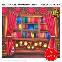 Background Backdrop Layar Foto Rak Wisuda Gorden Merah WS3-C 3x2.5m