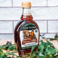 TOP SELLING GREAT NORTHERN 100% PURE ORGANIC MAPLE SYRUP - 236ML
