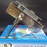 Paket lengkap handle pintu dengan kunci medium Dolomite HS-2213