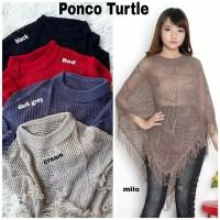 PROMO!!! Baju Atasan Cewek Blouse Kondangan Cewek Ponco Rajut Turtle