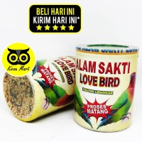 PAKAN MAKANAN HARIAN BURUNG LOVEBIRD BIJI MILET ALAM SAKTI LOVEBIRD