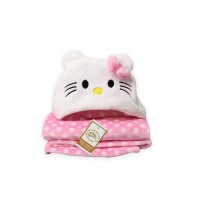 Blanket Baby Topi Vallery Quincy - HELLO KITTY PINK
