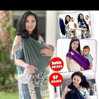 geos gendongan kaos polos size S M L XL XXL all size / selimut bayi
