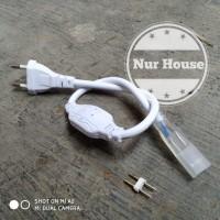 adaptor lampu led strip 220v socket colokan lampu selang