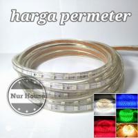 lampu led strip meteran 5050 ac 220 v lampu selang dekorasi / etalase
