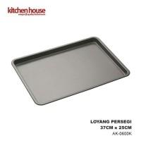 Kitchen House Loyang Kue Persegi Lapis Teflon 37x25cm Cetakan AK0600K