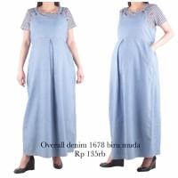 bajuhamil baju dress hamil overall hamil 1678 biru muda
