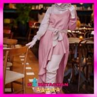 baju gamis terbaru kaluna set / pakaian wanita remaja muslim