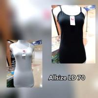 tank top wanita dewasa allsize bahan bagus high quality, hitam putih