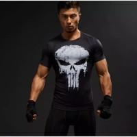 Kaos Baju cowo cowok MURAH Punisher / Gym / Fitnes / Fitness