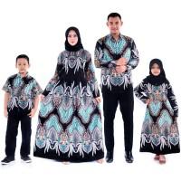 Batik Gamis Keluarga Modern Seragam Atasan Batik Pesta Baju Batik Hem