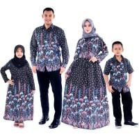 Couple Batik Pesta Sekeluarga Dress Baju Muslim keluarga Gamis Batik