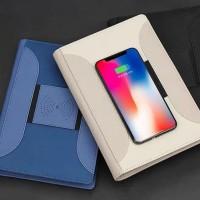 Souvenir perusahaan - notebook powerbank - wireless charging notebook