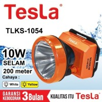 Senter Kepala Super Led 10w 10 Watt Nyelam Tesla TLKS 1054 Cas Recas -