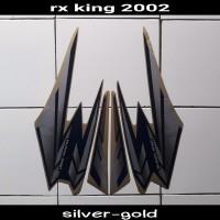 striping Sticker motor Rx King 2002 silver-Gold