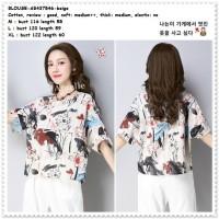 AB437546 Baju Atasan Katun Wanita Casual Blouse Santai Korea Import