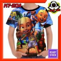 Kaos Upin ipin dan ayam Baju Anak Murah tokoh kartun TV