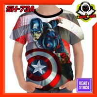 Kaos Captain America Baju Anak Murah tokoh Superhero marvel