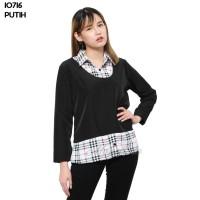 Baju Blouse Atasan Murah Wanita Kekinian 10716 - Putih, L