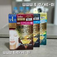 Kose Clear Turn Premium Royal Jelly Mask - Collagen (4Pcs) - pink