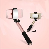 Selfie Stick For Android iPhone Samsung With Mirror Button Monopod Sel